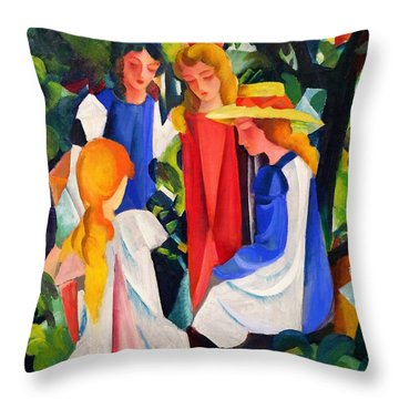 Digital Remastered Edition - Four Girls Throw Pillow