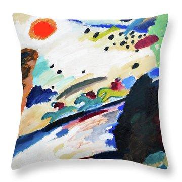 Digital Remastered Edition - Romantic Landscape Throw Pillow