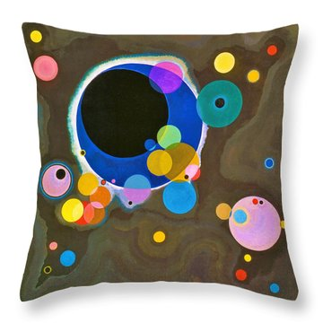 Digital Remastered Edition - Several Circles - Original Light Brown Throw Pillow