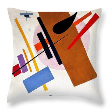 Digital Remastered Edition - Suprematism, No55 Throw Pillow