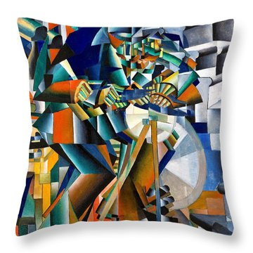 Digital Remastered Edition - The Knifegrinder Throw Pillow
