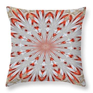 Digitalized Cardinal Throw Pillow