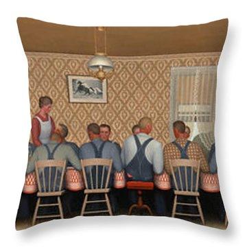 Dinner For Threshers, 1934 Throw Pillow