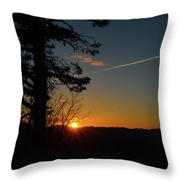 Dipping Down Throw Pillow