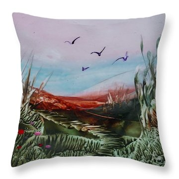 Disappearing Pathway Throw Pillow