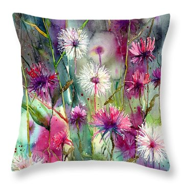 Tulips Watercolor Throw Pillows