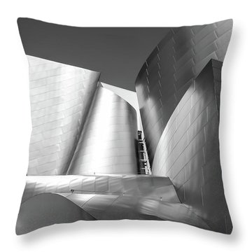 Throw Pillow featuring the photograph Disney_concert_hall by Mark Shoolery