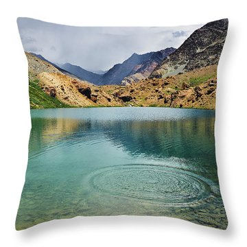 Throw Pillow featuring the photograph Distant Rains by Whitney Goodey