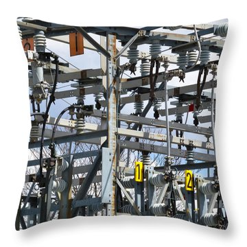 Throw Pillow featuring the photograph Distribution by Carl Young