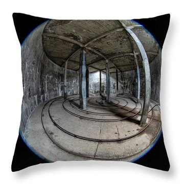 Djupavik Cannery Herring Oil Tank Throw Pillow