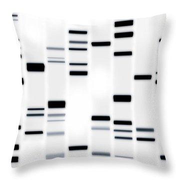 Dna Art Black On White Throw Pillow