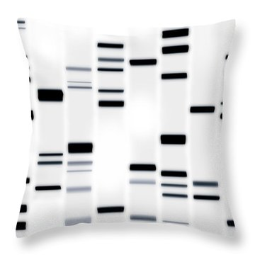 Dna Art Black On White Throw Pillow