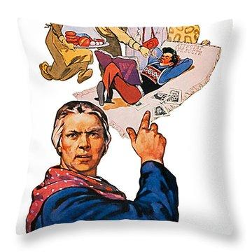Do Not Grow Lazies Throw Pillow