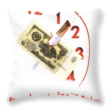 Do Not Waste Your Working Hours Throw Pillow
