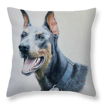 Doberman Throw Pillow