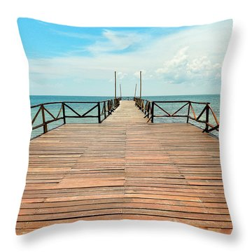Dock To Infinity Throw Pillow