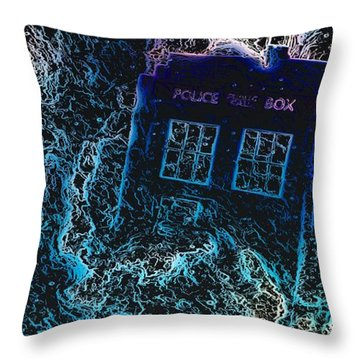 Doctor Who Tardis 3 Throw Pillow