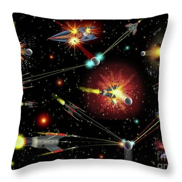 Dog Fights Throw Pillow