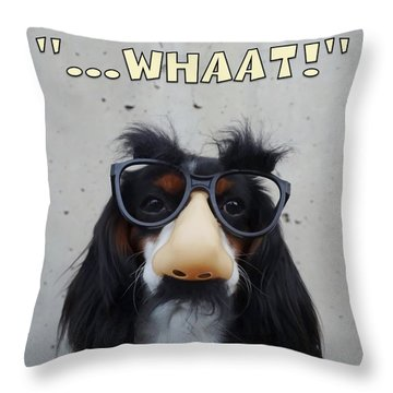 Throw Pillow featuring the digital art Dog Gone Funny by ISAW Company