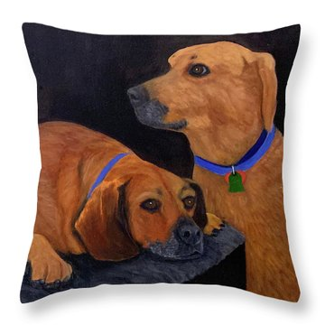 Dog Love Throw Pillow