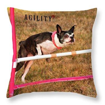 Doggie Agility  Throw Pillow