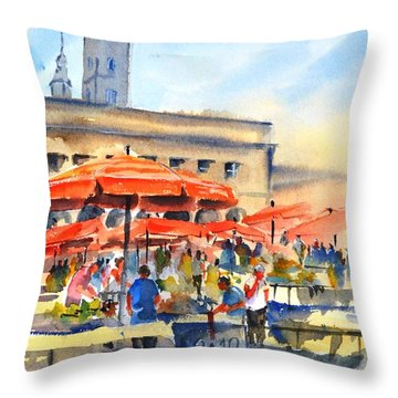 Dolce Market, Zagreb - 2 Throw Pillow
