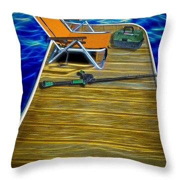 Done Fishing Throw Pillow