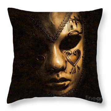 Dont Be Evil Said The Masked Villain Throw Pillow