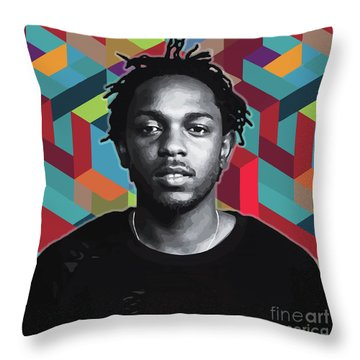 Throw Pillow featuring the painting Don't Kill My Vibe Kendrick by Carla B