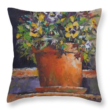 Door Greeter Throw Pillow