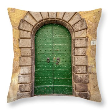Door Six Of Cortona Throw Pillow