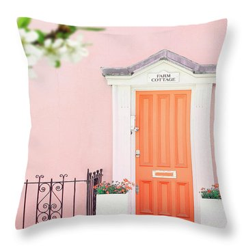 Door To Pastel Heaven Throw Pillow