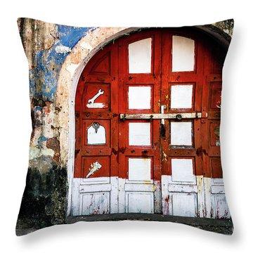 Doors Of India - Garage Door Throw Pillow