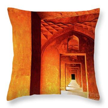 Doors Of India - Taj Mahal Throw Pillow