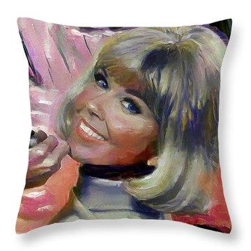 Doris Day Throw Pillow