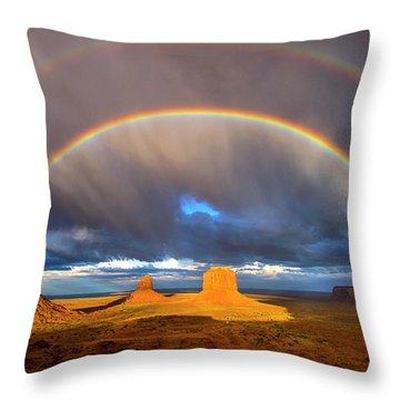 Monsoon Season At The Mittens Throw Pillow