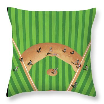 Double Play Throw Pillow