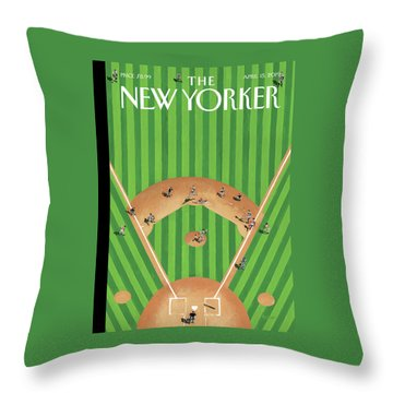 Double Play Throw Pillow
