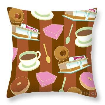 Doughnut_wallpaper_f2 Throw Pillow