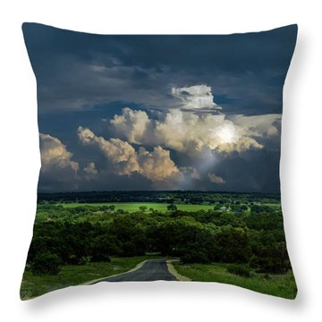 Down Hill From Here Throw Pillow