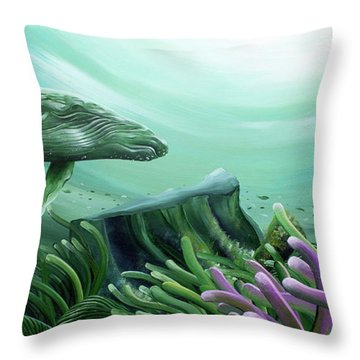 Down Under Throw Pillow