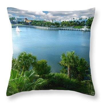 Downtown At The Gardens Mall Palm Beach Florida C2 Throw Pillow