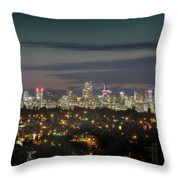 Downtown Dusk Throw Pillow