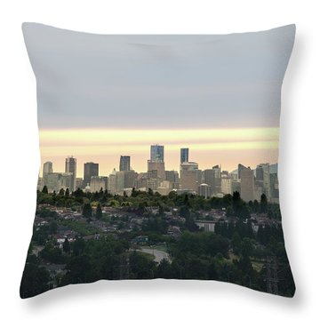 Downtown Sunset Throw Pillow