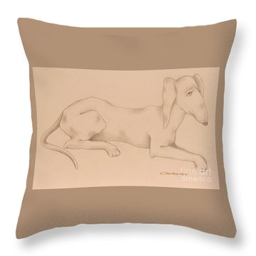 Doxies, Bad To The Bone Throw Pillow