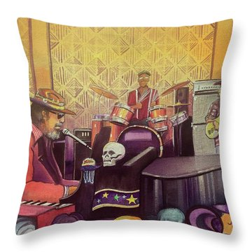 Dr John At Lake Dillon Amphitheater Throw Pillow
