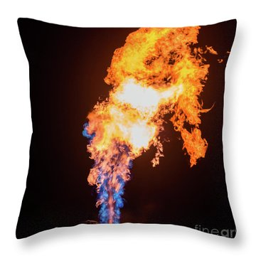 Throw Pillow featuring the photograph Dragon Breath by Dheeraj Mutha