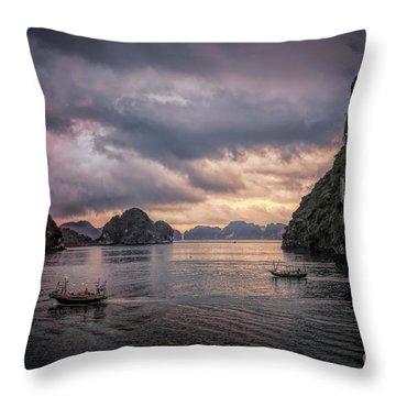 Dramatic Cloud Invade China Sea  Throw Pillow