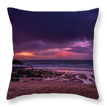 Dramatic Sky At Porthmeor Throw Pillow