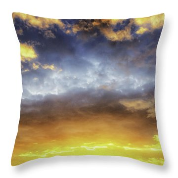 Dramatic Sun Throw Pillow